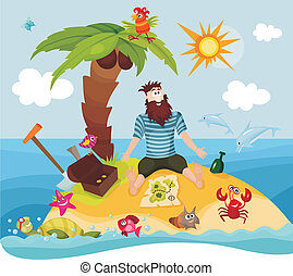 island - vector illustration of a island