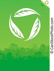 Green eco poster