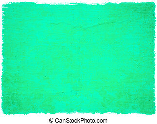 Grunge Water Green Blossom Background with Rough Edge Isolated
