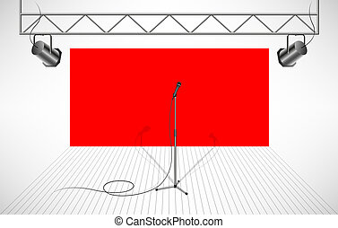 Studio with isolated microphone