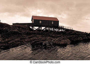 Boat shed in Scotland