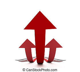 Metaphor of Success - Big red arrow towers over the other...