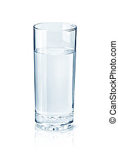 Glass of water isolated on white