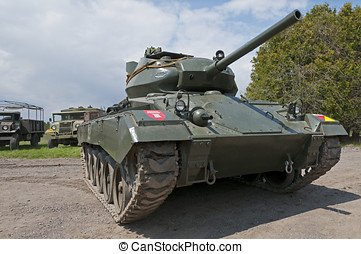 M24 Chaffee Tank - An American made M24 Chaffee light tank,...