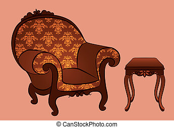 arm-chair for vintage interior