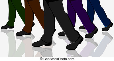 Business People Walking - illustration of business people...