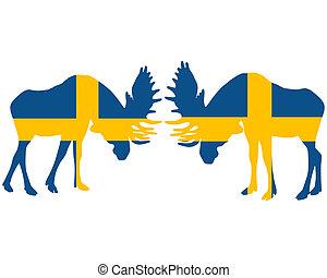 Rutting moose