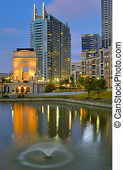 Millennium Gate at Atlantic Station in Midtown Atlanta,...