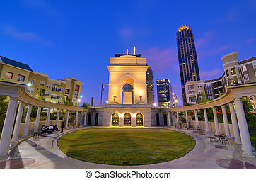 Atlantic Station in Midtown Atlanta - Millennium Gate at...