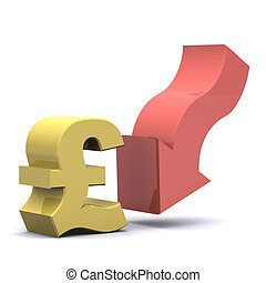 Falling Pound - A Colourful 3d Rendered Falling Pound...