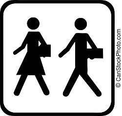 business people pictogram