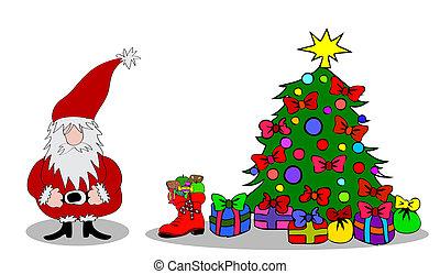 Santa Claus Christmas tree
