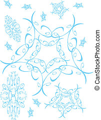 Icy Blue Snowflakes