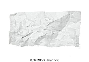 white crumpled note paper