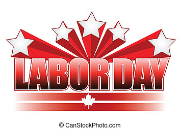 Labor day Canada illustration design