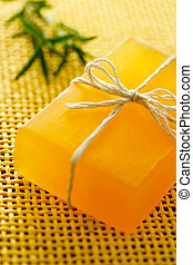 Handmade yellow soap