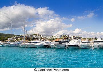 Calvia Puerto Portals Nous luxury yachts in Majorca Balearic...