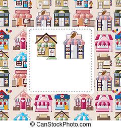 house / shop card