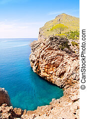 Escorca Sa Calobra beach in Mallorca balearic island from...