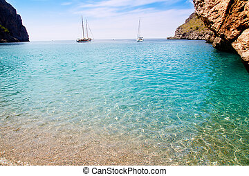 Escorca Sa Calobra beach in Mallorca balearic islands...