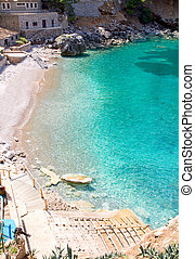 Sa Calobra beach in Escorca Mallorca - Sa Calobra beach from...