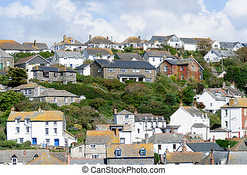 Port Isaac - end of the village of Port Isaac in Great...
