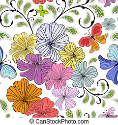 White repeating floral pattern