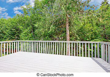 Balcony wit the view of the forest - Exterior photo of the...