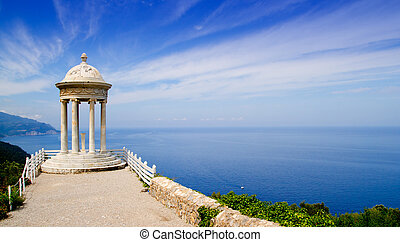 es Galliner gazebo in Son Marroig over Majorca sea - es...