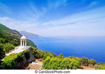 es Galliner gazebo in Son Marroig over Majorca sea - es...