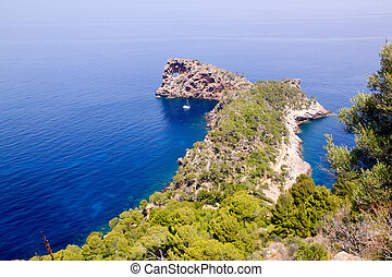 Deia Sa Foradada in mediterranean Majorca view from Can...