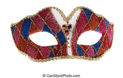 Venetian mask isolated against a white background