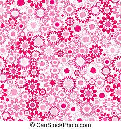 rosa, patrón, flores
