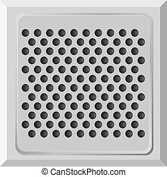Vector illustration of a metal plate with holes