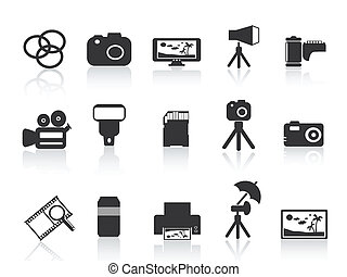 photography element icon for web design