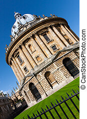 The Radcliffe Camera, Oxford University at a jaunty angle