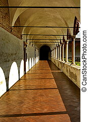 cloister - a nice view of a cloister in italy