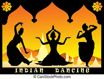 indian dancing - three indian dancing