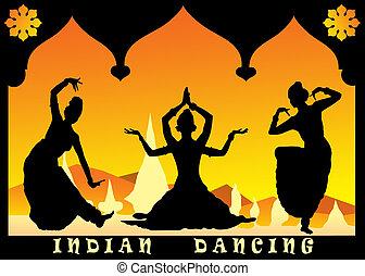 indian dancing - three indian dancing
