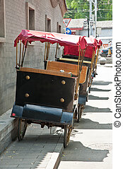 tricycle - A traditional man pulled tricycle in a Bejing...