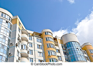 Modern apartments  - building on a bright day