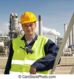Engineer - Portrait of an engineer in front of a...