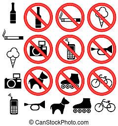 prohibitorio, señales