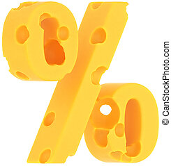 Cheeze font percent symbol isolated
