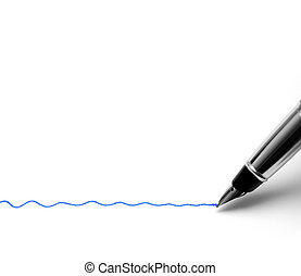 Fountain pen writing wavy line