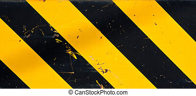 Caution sign - Yellow and black caution sign
