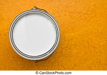 Can of paint - Can of white paint open