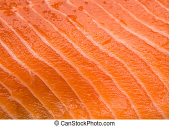 Salmon fillet closeup texture