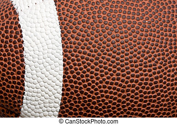 Football background texture with white stripe