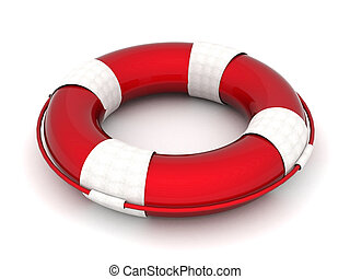 life buoy - The image of a life buoy on a white background